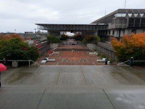 The convocation square during our campus tour